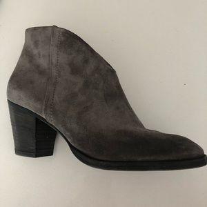 Paul Green Shoes - Paul Green Grey Suede Delgado booties